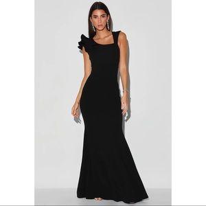 LULUS 'Lucette' Ruffled Mermaid Maxi Dress